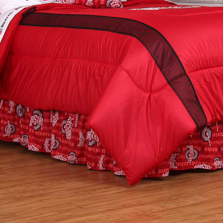 Ohio State Buckeyes All Over Bed Skirt
