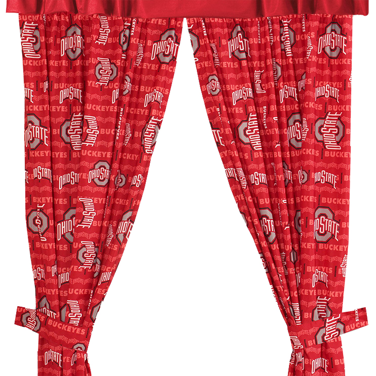 Ohio State Buckeyes All Over Curtains