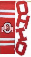 Ohio State Buckeyes Applique Flag