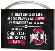 Ohio State Buckeyes Best Things Small Plaque