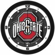Ohio State Buckeyes Carbon Fiber Wall Clock