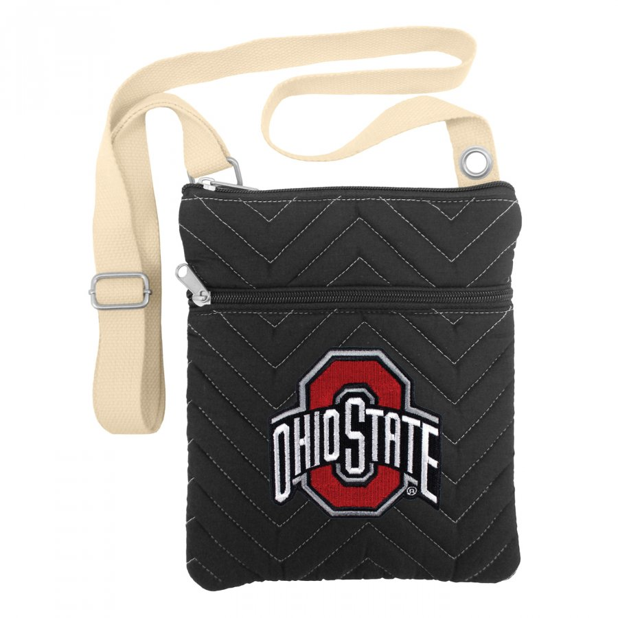 Ohio State Buckeyes Chevron Stitch Crossbody Bag
