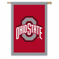 "Ohio State Buckeyes 28"" x 44"" Double Sided Applique Flag"