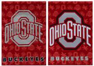 Ohio State Buckeyes Double Sided Glitter Garden Flag