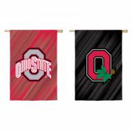 Ohio State Buckeyes Double Sided House Flag