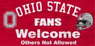 Ohio State Buckeyes Fans Welcome Wood Sign