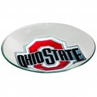 Ohio State Buckeyes Glass Bird Bath