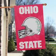 Ohio State Buckeyes - Helmet NCAA Embroidered / Applique College Flag Banner