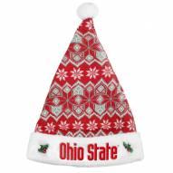 Ohio State Buckeyes Knit Santa Hat
