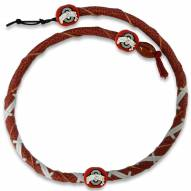 Ohio State Buckeyes Leather Football Necklace