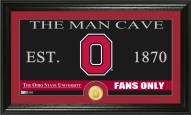 Ohio State Buckeyes Man Cave Bronze Coin Panoramic Photo Mint