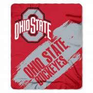 Ohio State Buckeyes Painted Fleece Blanket