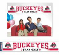 Ohio State Buckeyes Party Banner
