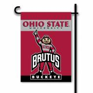 Ohio State Buckeyes Premium 2-Sided Garden Flag