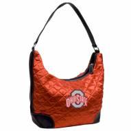 Ohio State Buckeyes Quilted Hobo Handbag