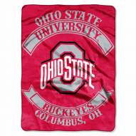Ohio State Buckeyes Rebel Raschel Throw Blanket