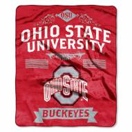 Ohio State Buckeyes School Spirit Raschel Throw Blanket