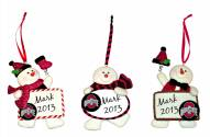 Ohio State Buckeyes Snowman with Sign Ornament