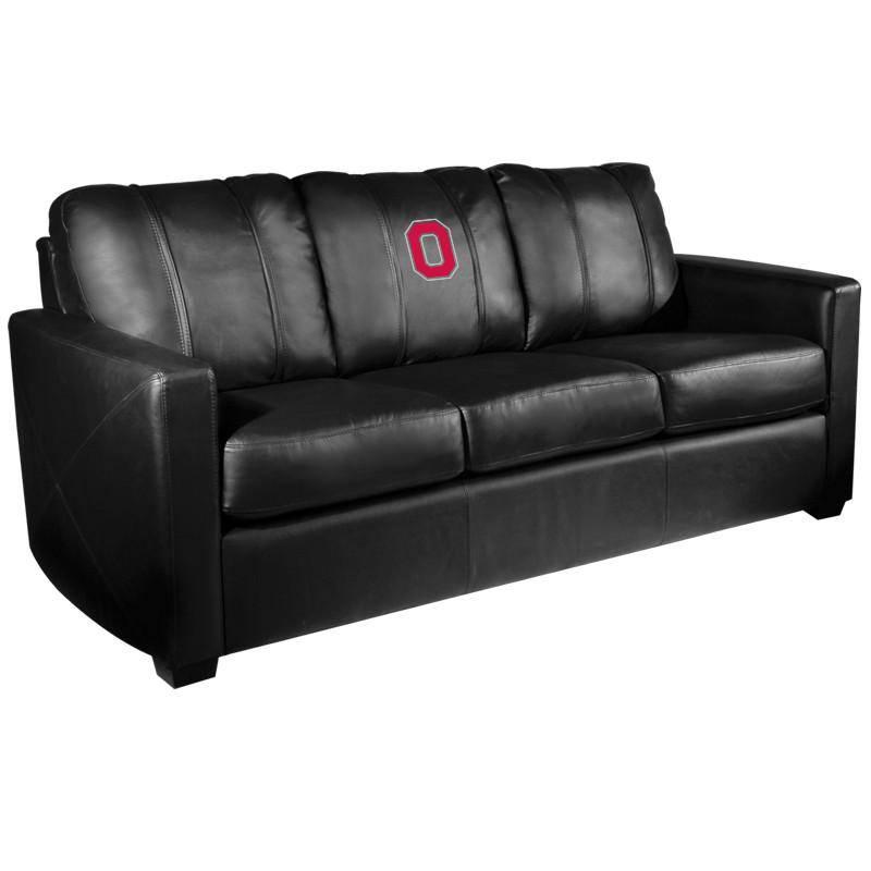 Ohio State Buckeyes Xzipit Silver Sofa With Block O Logo