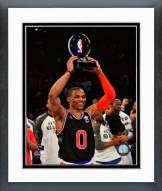 Oklahoma City Thunder Russell Westbrook 2015 MVP Trophy Framed Photo