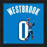 Oklahoma City Thunder Russell Westbrook Uniframe Framed Jersey Photo