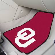 Oklahoma Sooners 2-Piece Carpet Car Mats