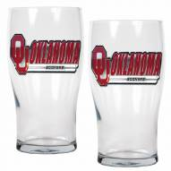 Oklahoma Sooners 20 oz. Pub Glass - Set of 2