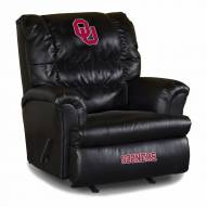 Oklahoma Sooners Big Daddy Leather Recliner