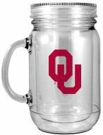 Oklahoma Sooners Double Walled Mason Jar