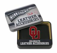 Oklahoma Sooners Embroidered Leather Tri-Fold Wallet