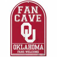 Oklahoma Sooners Fan Cave Wood Sign