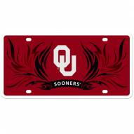 Oklahoma Sooners Flame License Plate