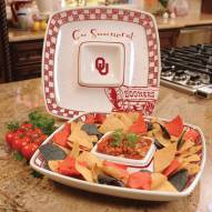 Oklahoma Sooners Gameday Chip N Dip Dish