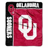 Oklahoma Sooners Jersey Mesh Raschel Throw Blanket