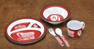 Oklahoma Sooners Kid's 5 Piece Dish Set