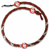 Oklahoma Sooners Leather Football Necklace