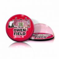 Oklahoma Sooners Memorial Stadium Crystal Magnet