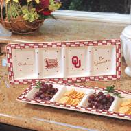Oklahoma Sooners NCAA Ceramic Relish Tray