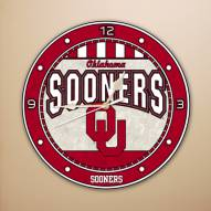 Oklahoma Sooners NCAA Stained Glass Wall Clock