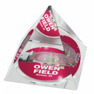 Oklahoma Sooners Owen Field Crystal Pyramid