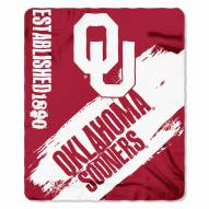 Oklahoma Sooners Painted Fleece Blanket