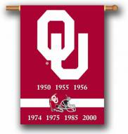 "Oklahoma Sooners Premium Championship Year 28"" x 40"" Two-Sided Banner"