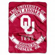Oklahoma Sooners Rebel Raschel Throw Blanket