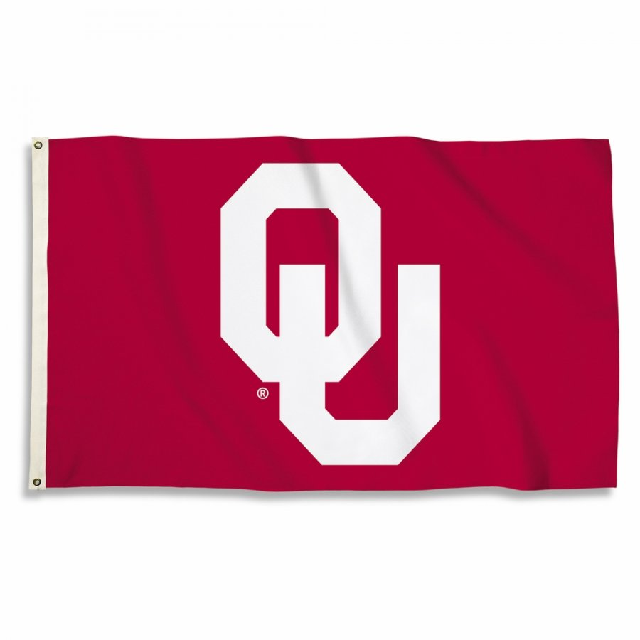 Oklahoma Sooners Red 3' x 5' Flag