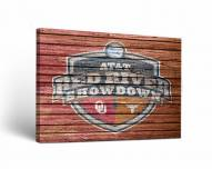 Oklahoma Sooners Red River Showdown Rivalry Canvas Wall Art