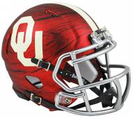 Oklahoma Sooners Riddell Speed Mini Replica Bring The Wood Football Helmet