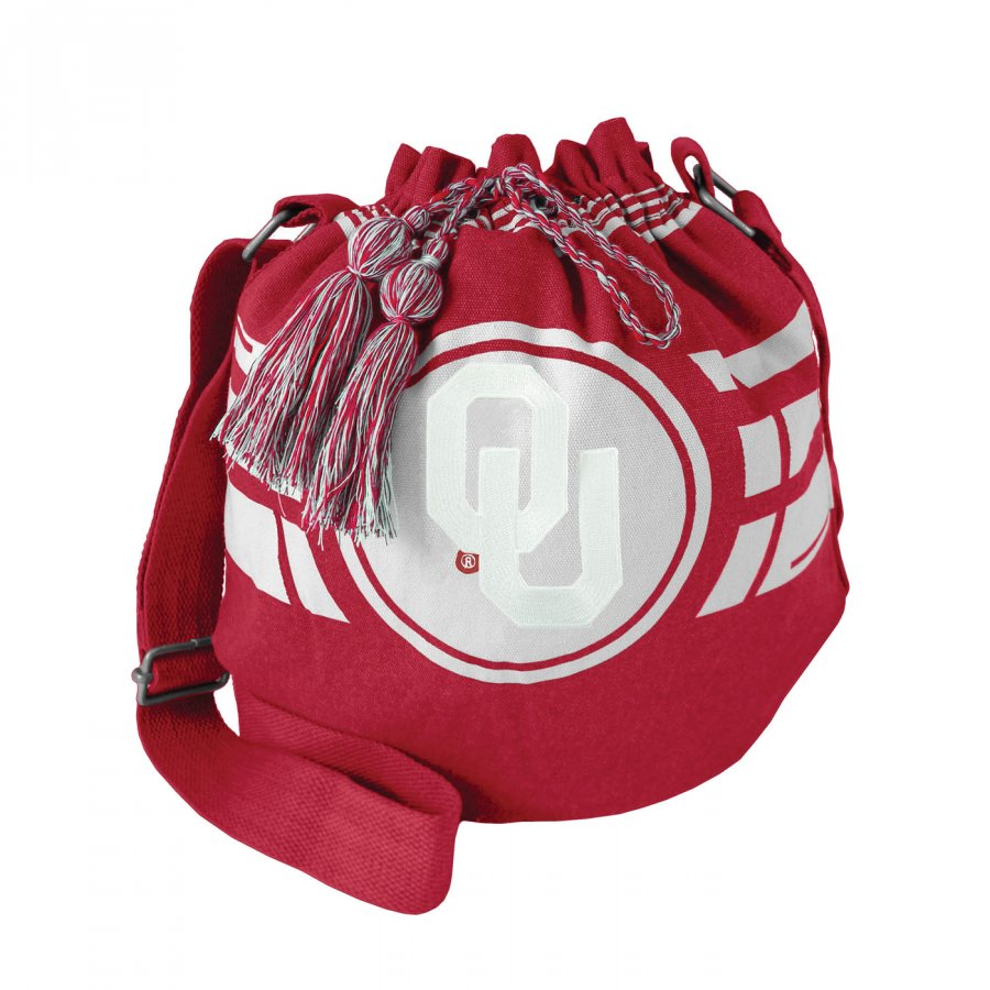 Oklahoma Sooners Ripple Drawstring Bucket Bag