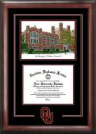 Oklahoma Sooners Spirit Diploma Frame with Campus Image
