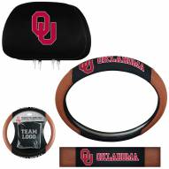 Oklahoma Sooners Steering Wheel & Headrest Cover Set