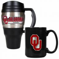 Oklahoma Sooners Travel Mug & Coffee Mug Set